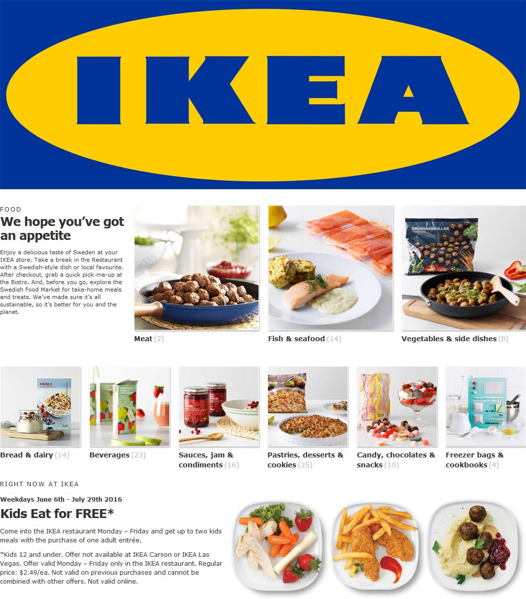 IKEA Coupon December 2016 Kids eat free weekdays at IKEA