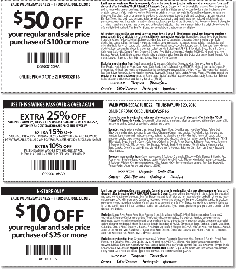 Carsons Coupon March 2018 Extra 25% off & more at Carsons, Bon Ton & sister stores, or online via promo code JUN2DY25P16