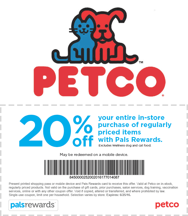 Petco Coupon January 2018 20% off at Petco, or online via promo code FRIENDS