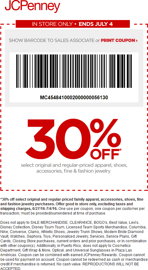 JCPenney Coupon January 2018 30% off at JCPenney