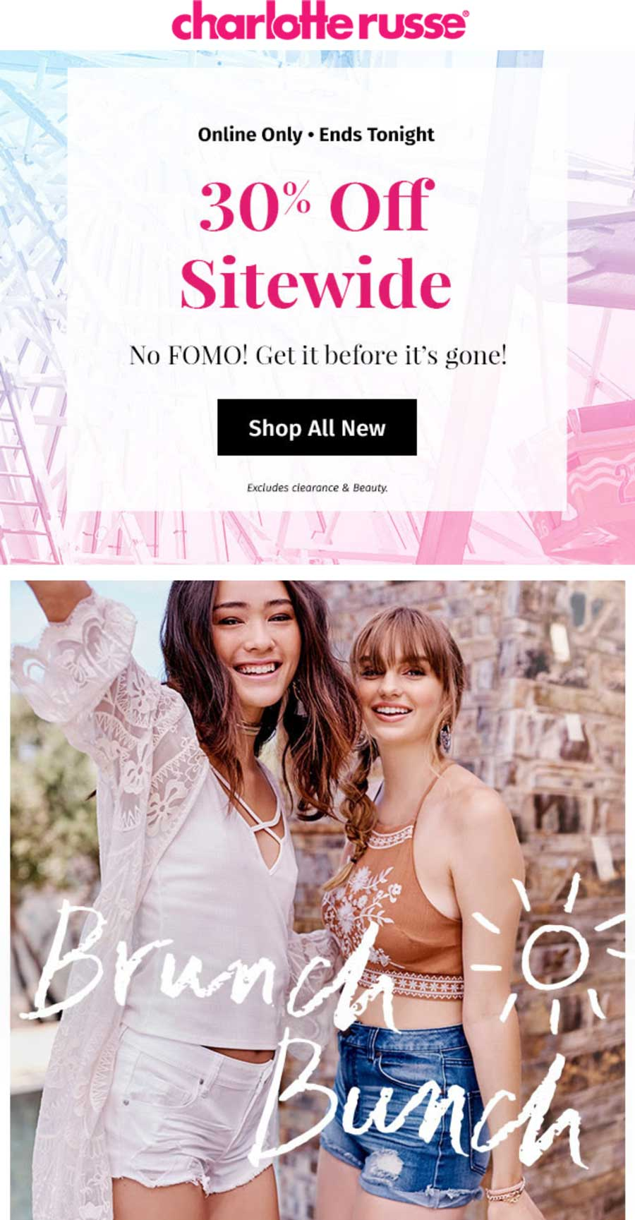 Coupon code charlotte russe