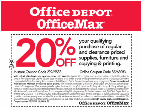 office depot coupon december 2018 20 off at office depot or online via promo