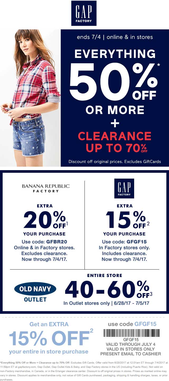 Gap online coupons