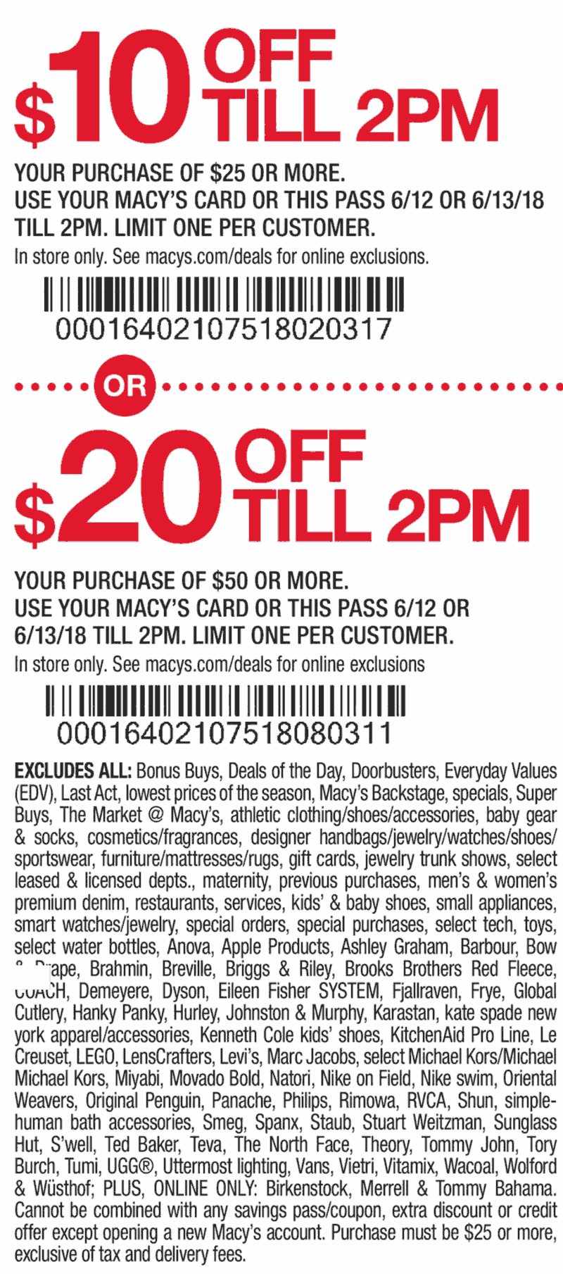 Macys Coupon June 2018 $10 off $25 & more at Macys