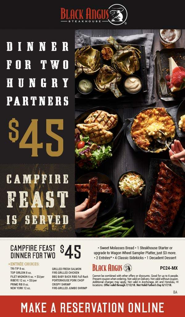 black angus coupons campfire feast 2020