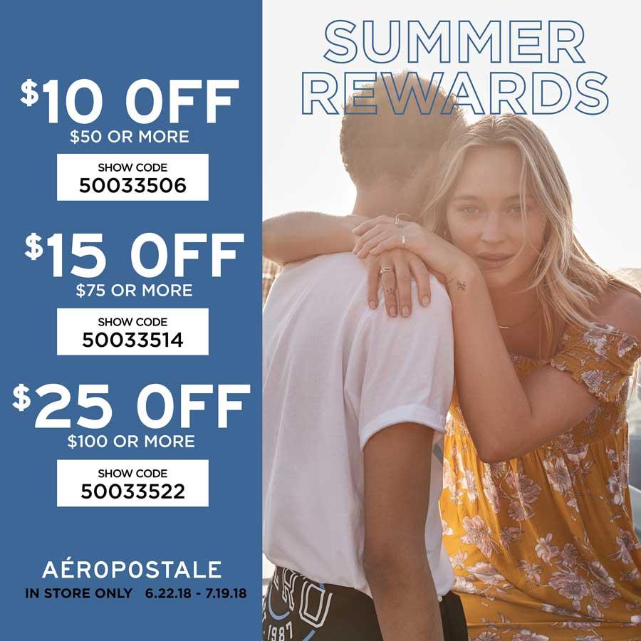 Aeropostale.com Promo Coupon $10 off $50 & more at Aeropostale