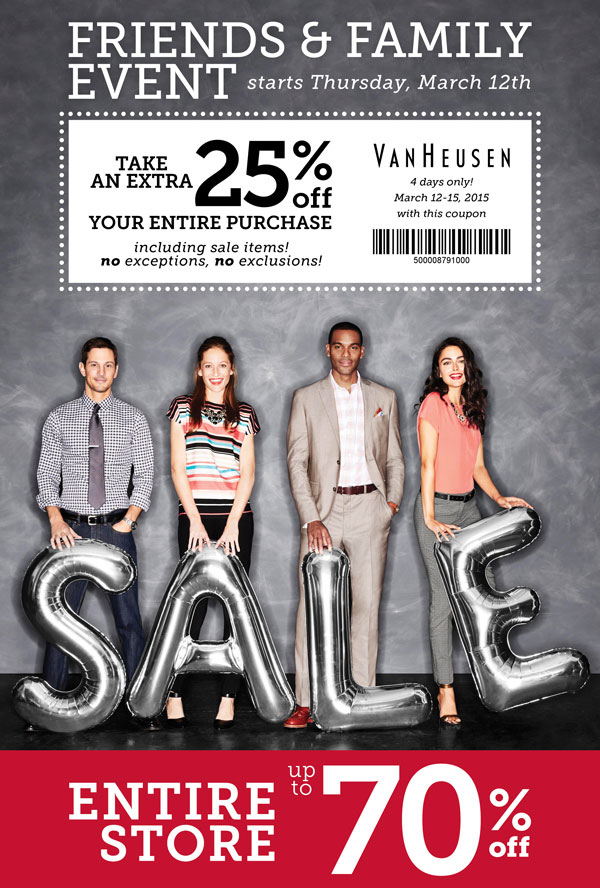 Van Heusen Coupon April 2019 Extra 25% off everything at Van Heusen