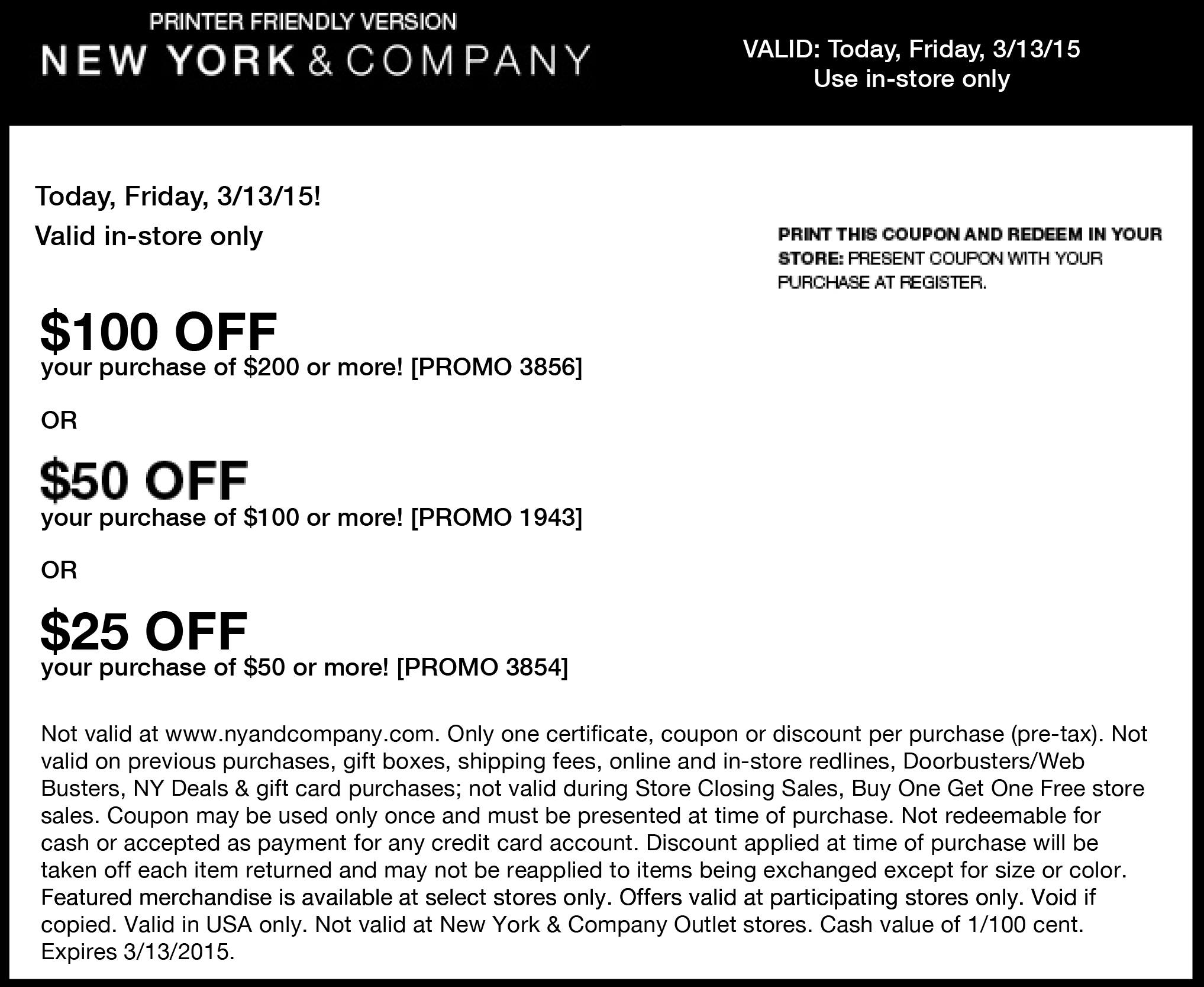 New York & Company Coupon February 2017 $25 off $50 & more today at New York & Company