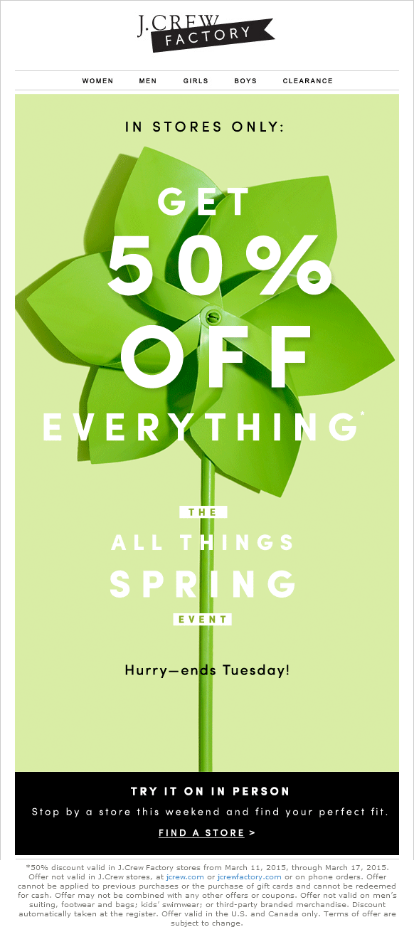 J.Crew Factory Coupon June 2017 50% off everything at J.Crew Factory