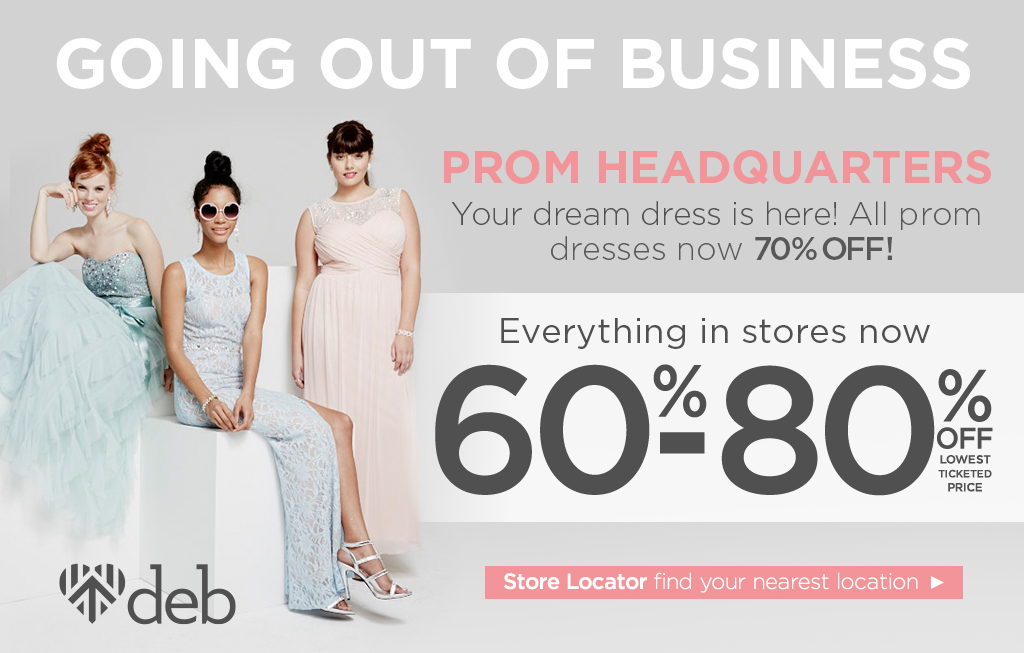 Deb Shops Coupon January 2019 Going out-of-business 60-80% off everything at Deb Shops, ditto online