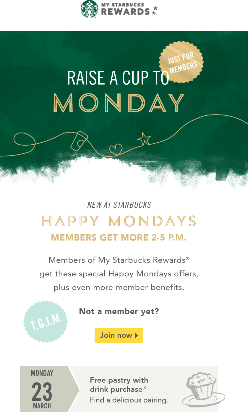 Starbucks Coupon July 2018 Free pastry with your drink & reward card 2-5pm today at Starbucks