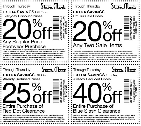 Stein Mart Coupon July 2017 20-40% off at Stein Mart, or online via promo code SHOPSALE