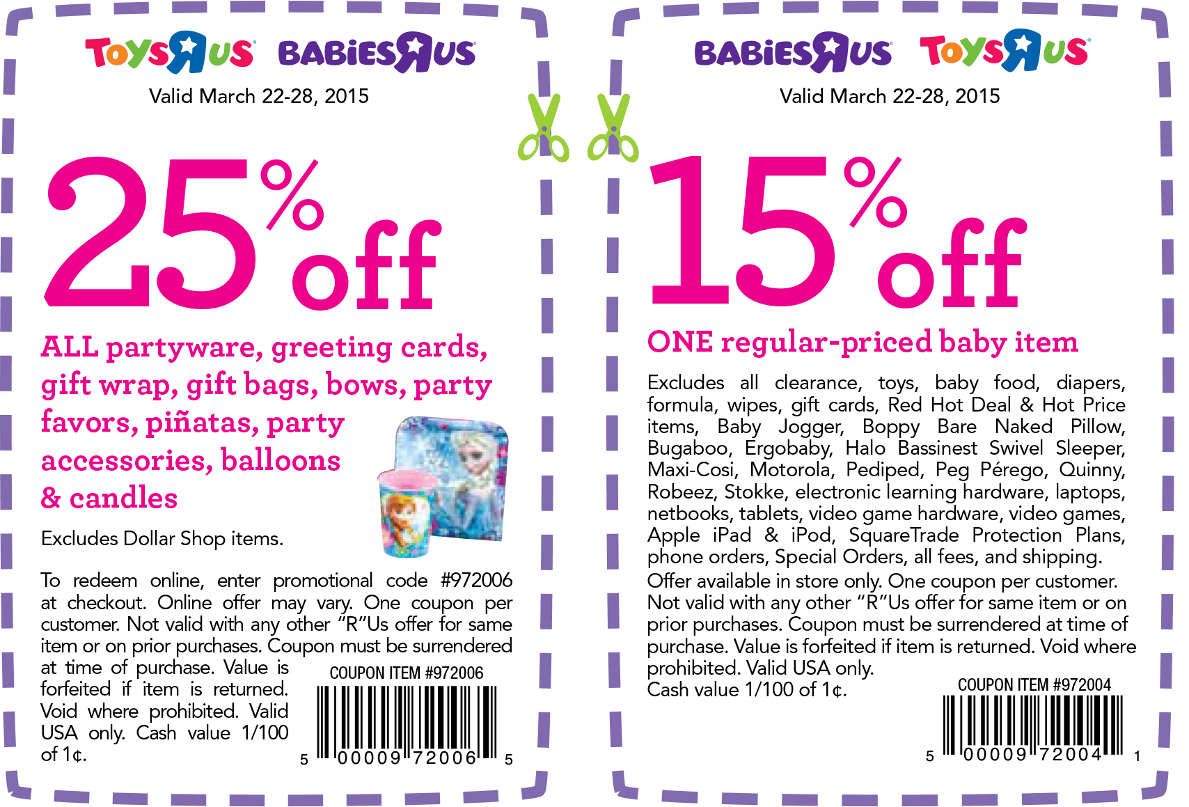 Toys R Us Coupon March 2017 25% off partyware & more at Toys R Us & Babies R Us, or online via promo code 972006