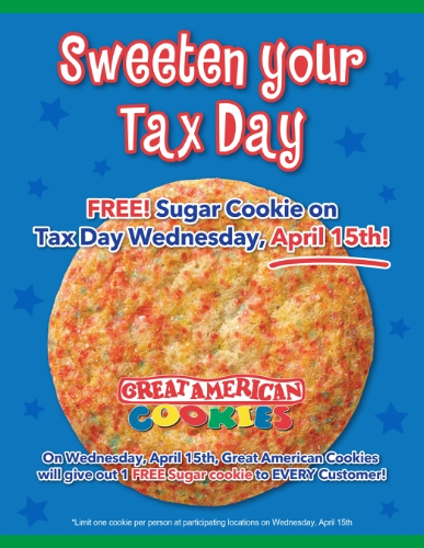 Great American Cookie Coupon April 2017 Free sugar cookie the 15th at Great American Cookie