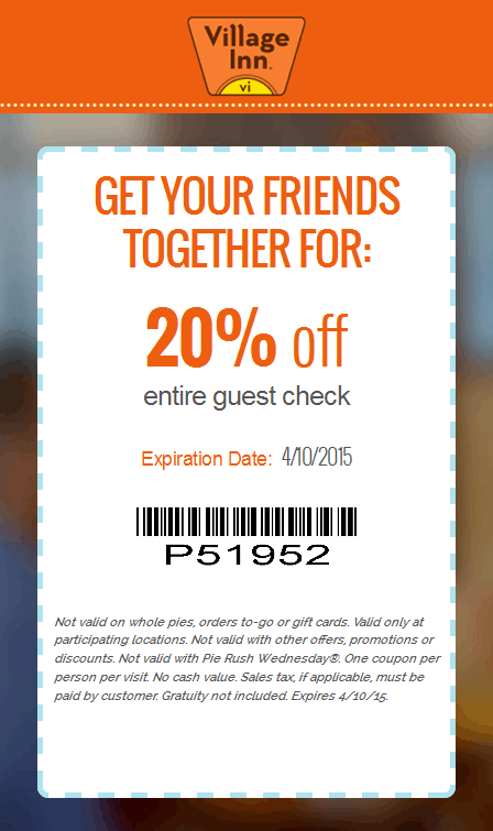 Village Inn Coupon October 2016 20% off at Village Inn restaurants