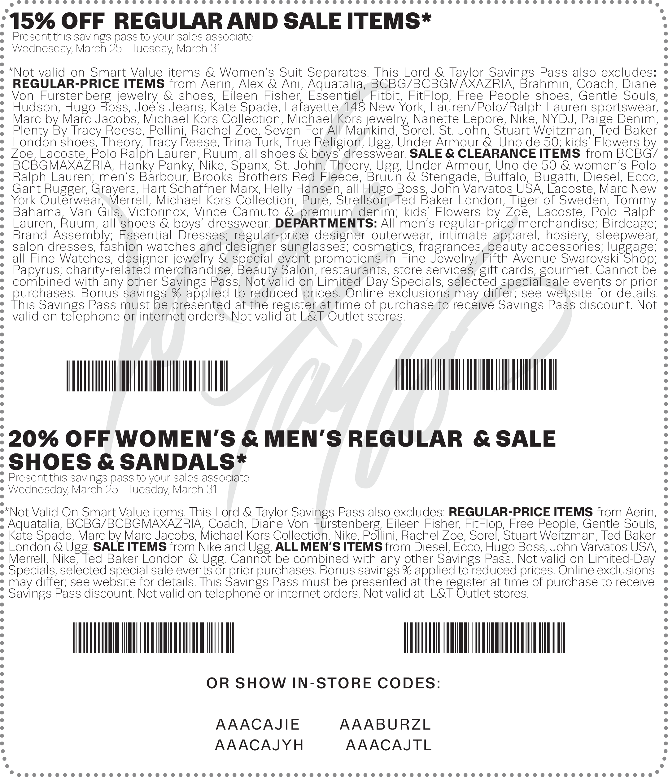 Lord & Taylor Coupon May 2019 Extra 15% off at Lord & Taylor