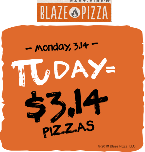 BlazePizza.com Promo Coupon $3.14 pizzas Monday at Blaze Pizza