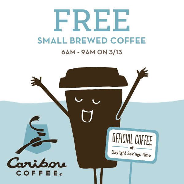 Caribou Coffee Coupon October 2016 Free coffee til 9am at Caribou Coffee