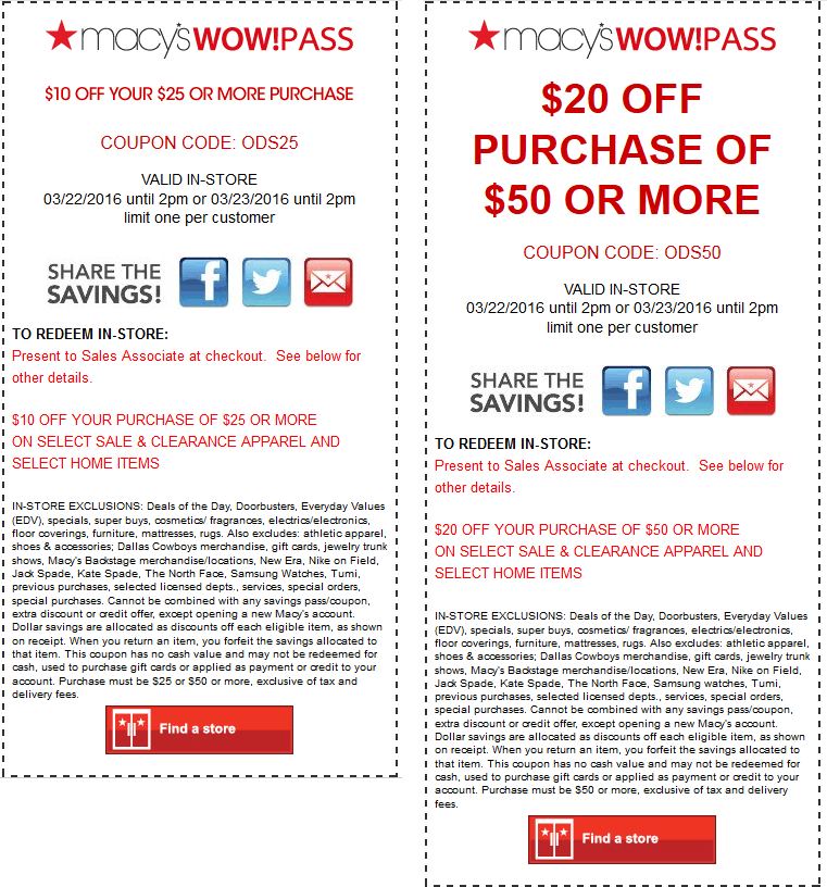 Macys Coupon May 2018 $10 off $25 & more at Macys