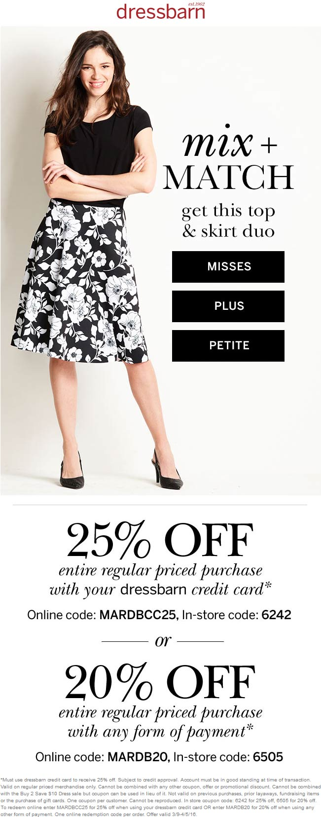 Dressbarn Coupon March 2017 20% off at Dressbarn, or online via promo code MARDB20