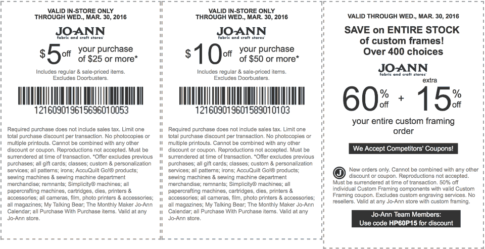 Jo-Ann Fabric Coupon May 2018 $5 off $25 & more at Jo-Ann Fabric