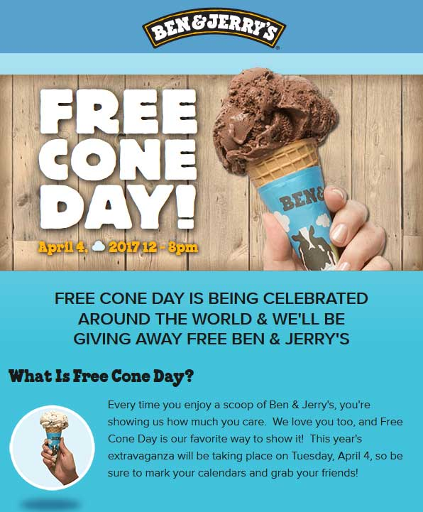 Ben and jerrys ice cream coupons