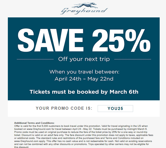 Greyhound discount coupon