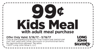 99 Cent Kids Meal With Yours At Long John Silvers