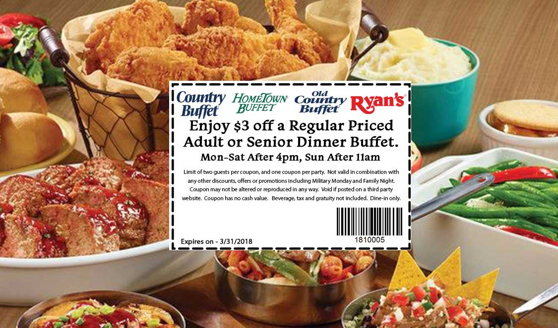 hometown buffet coupons 3 off dinner at ryans hometown buffet rh thecouponsapp com hometown buffet apply online hometown buffet application printable