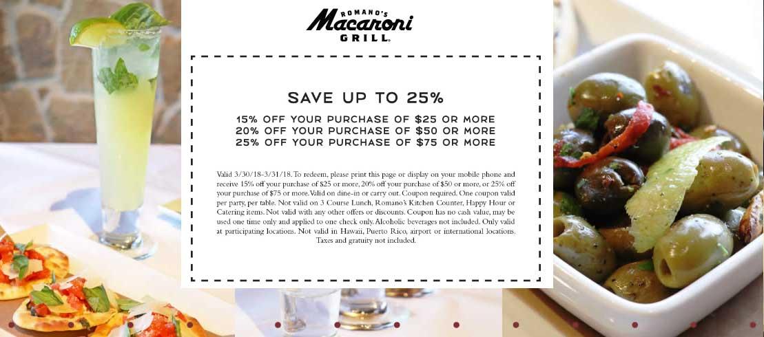 Macaroni grill coupon april 2018