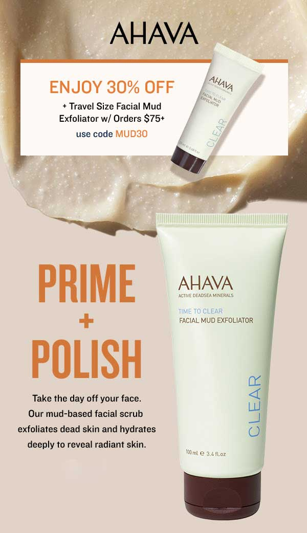 AHAVA Coupon May 2019 30% off at AHAVA via promo code MUD30