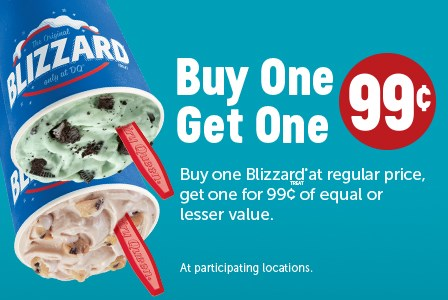 Dairy Queen Coupon January 2020 Second blizzard for a buck at Dairy Queen