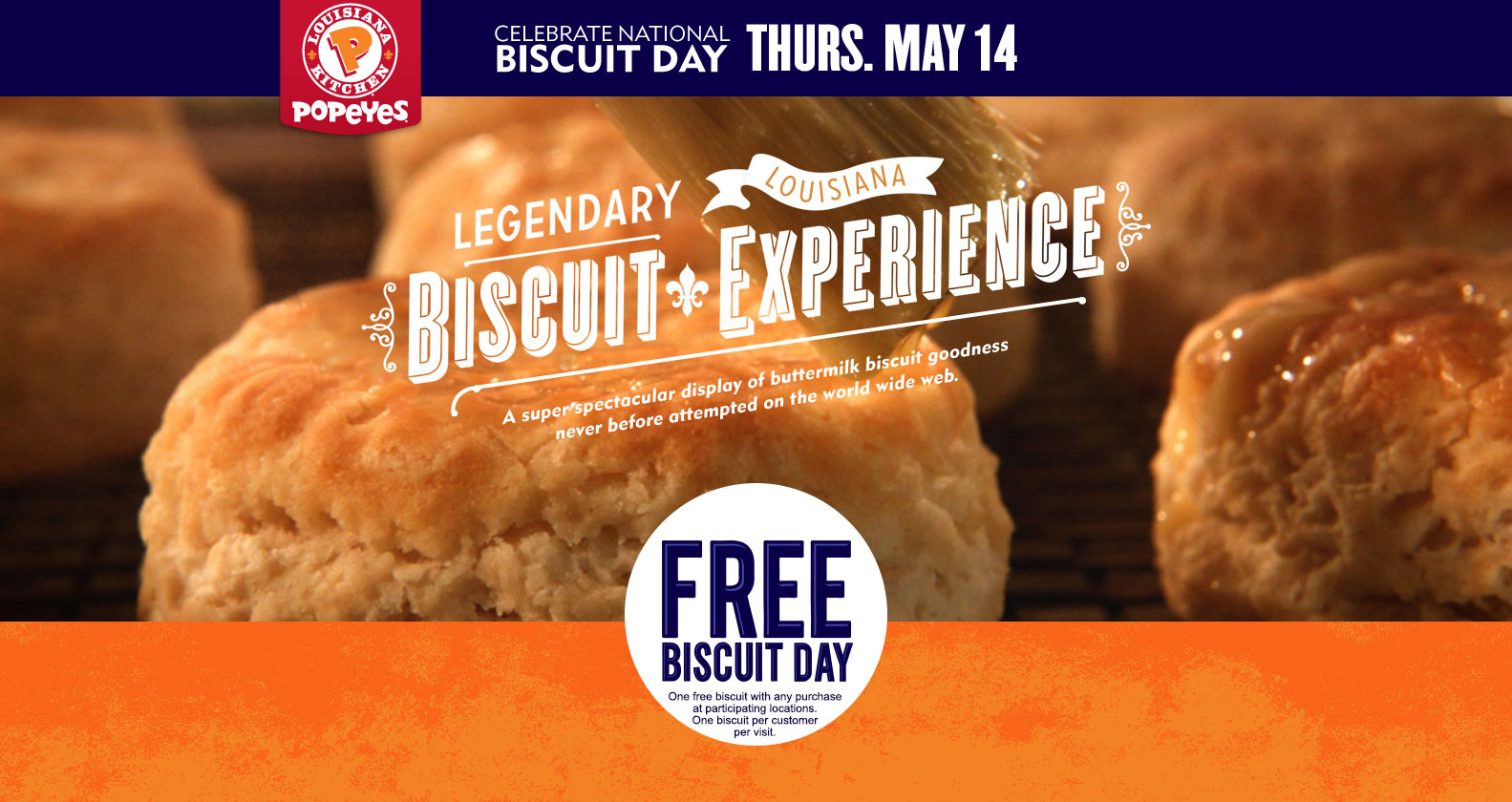 Popeyes Coupon March 2017 Free biscuit with any order today at Popeyes chicken