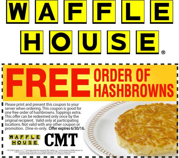 Waffle House Coupon March 2018 Free hashbrowns at Waffle House