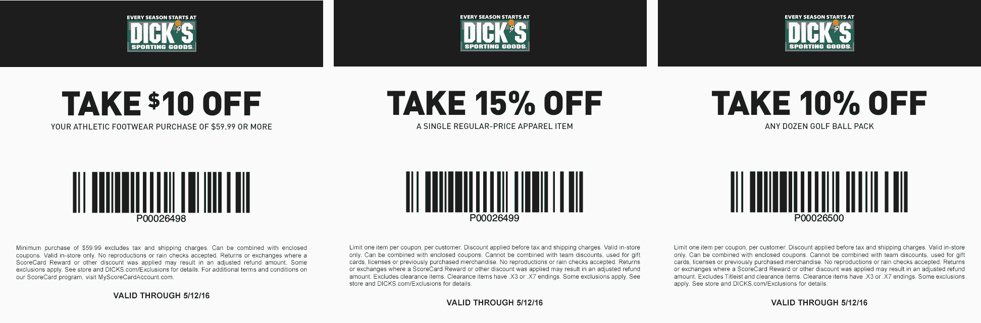 Dicks Coupon January 2018 $10 off $60 on footwear & more at Dicks sporting goods