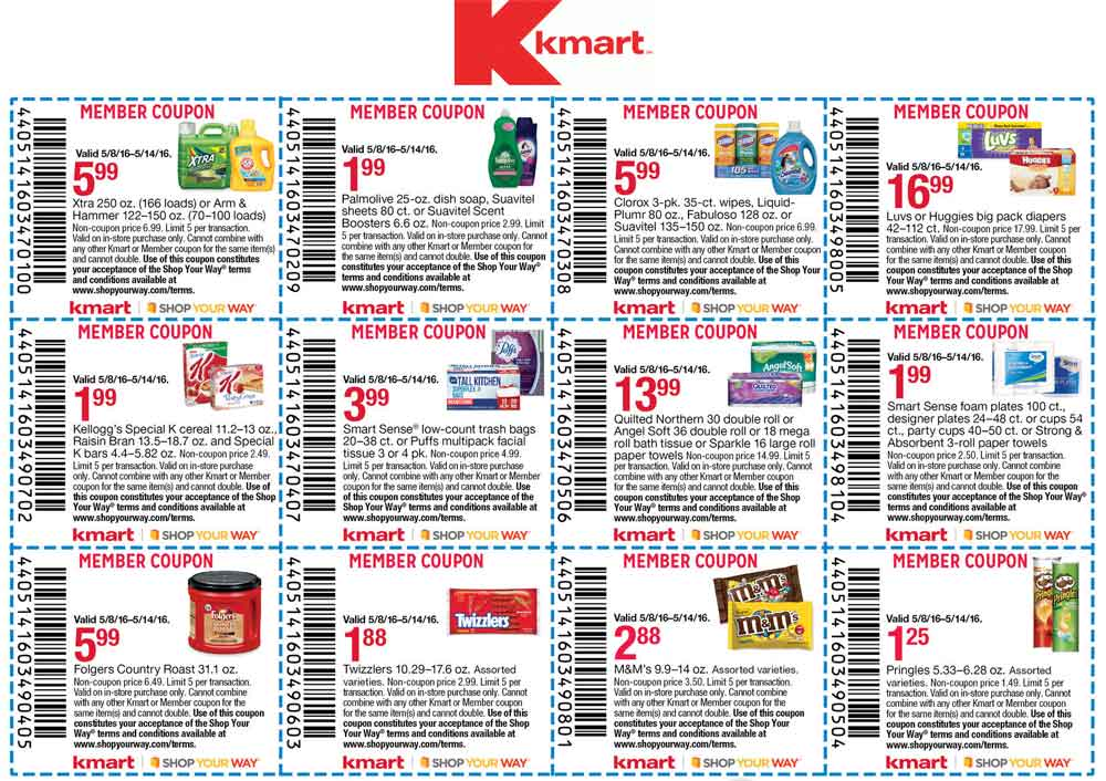 Kmart.com Promo Coupon Various grocery coupons at Kmart
