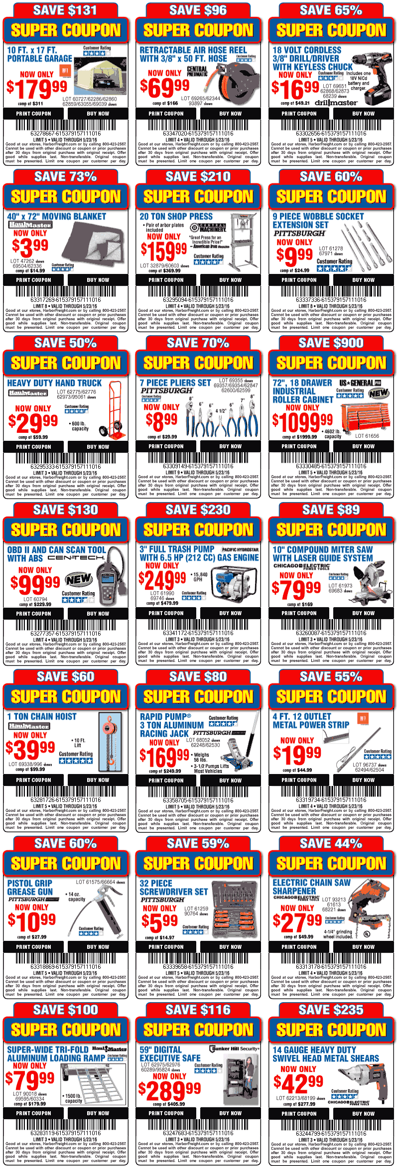 Harbor Freight Tools Coupon June 2017 Various coupons for Harbor Freight Tools
