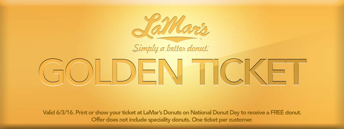 LaMars Coupon April 2018 Free doughnut the 3rd at LaMars donuts