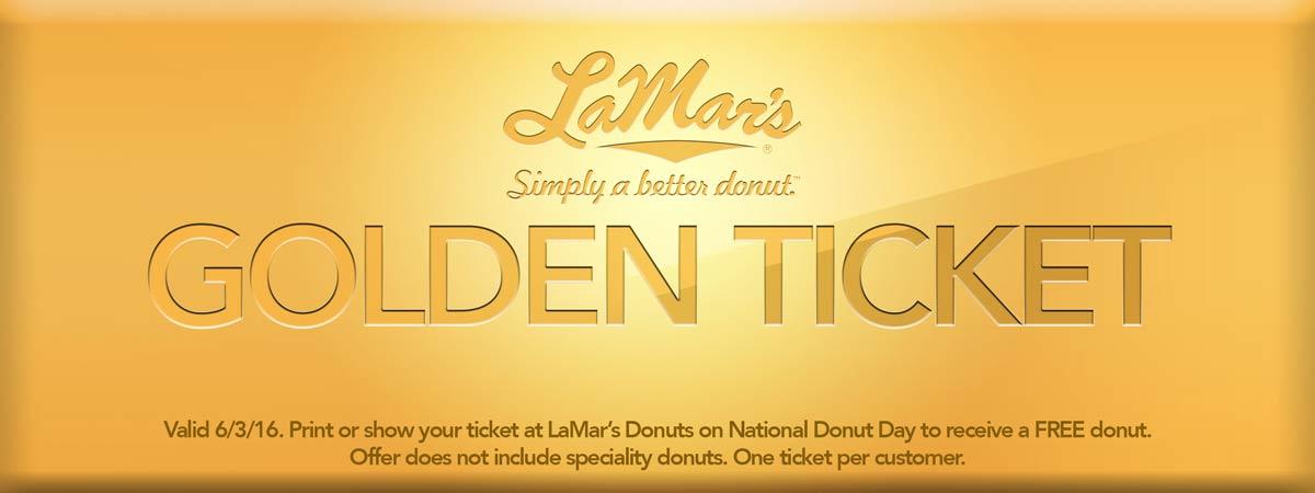 LaMars Coupon July 2017 Free doughnut the 3rd at LaMars donuts