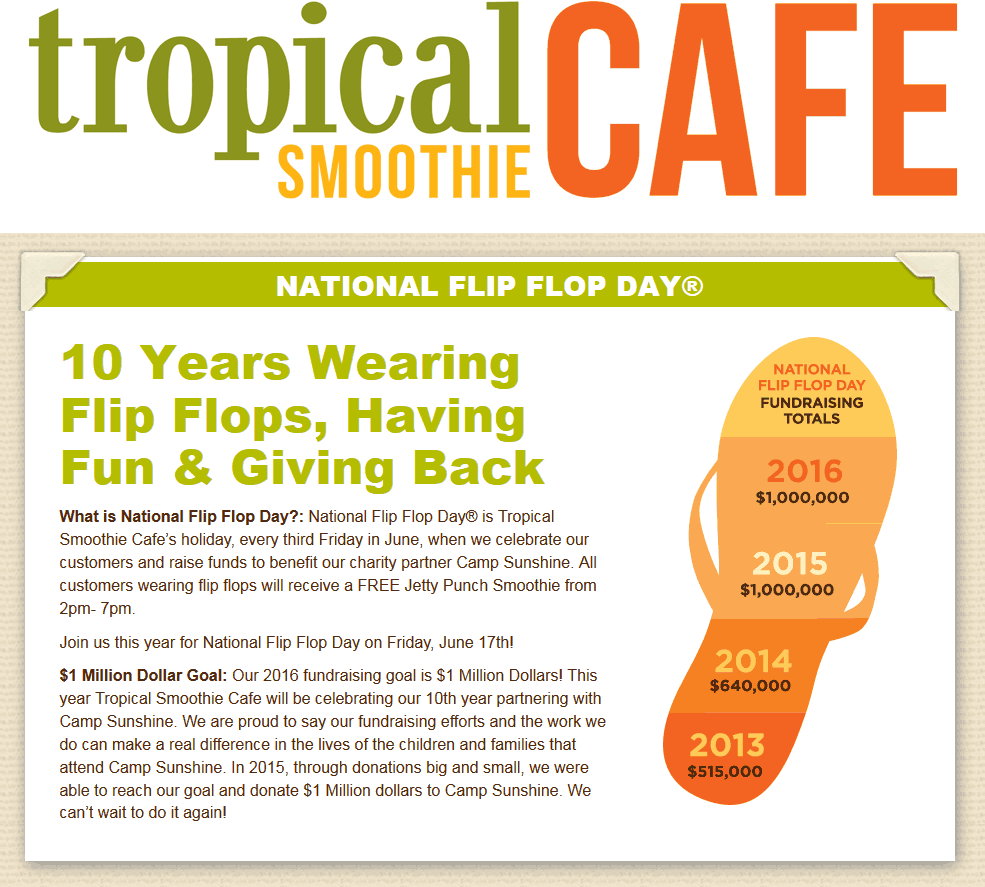 TropicalSmoothieCafe.com Promo Coupon Free smoothie 2-7p the 17th at Tropical Smoothie Cafe