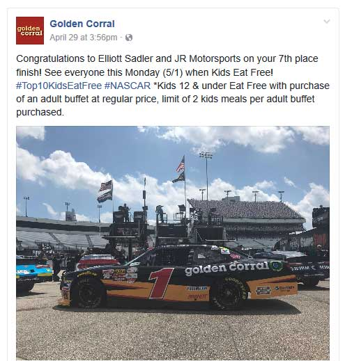 Golden Corral Coupon October 2018 2 kids meals free with an adult today at Golden Corral