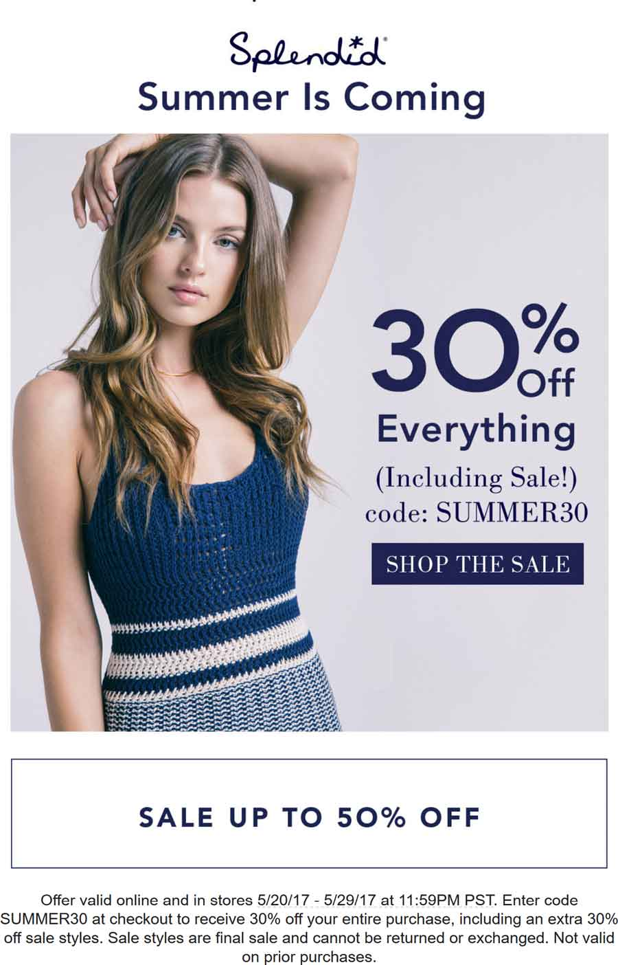 Splendid Coupon June 2019 30% off everything at Splendid, or online via promo code SUMMER30