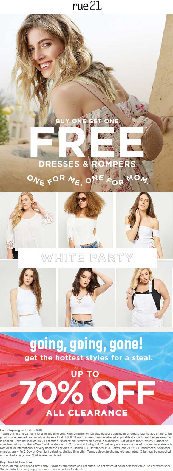 Rue21.com Promo Coupon Second dress free at rue21, ditto online