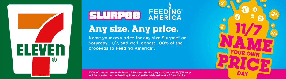 7-Eleven Coupon March 2017 Choose your own price on a Slurpee for charity Saturday at 7-Eleven