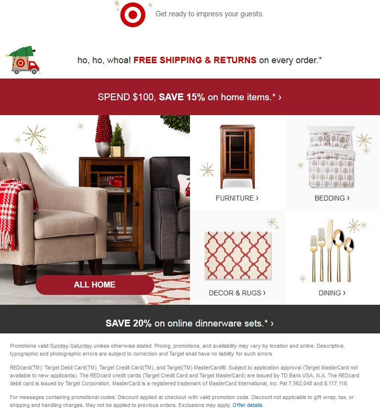 Target Coupon February 2019 30% off $75 on apparel, 15% off $100 on home items at Target, ditto online