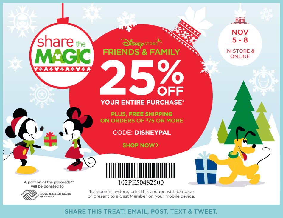 Disney Store Coupon August 2018 25% off at Disney Store, or online via promo code DISNEYPAL