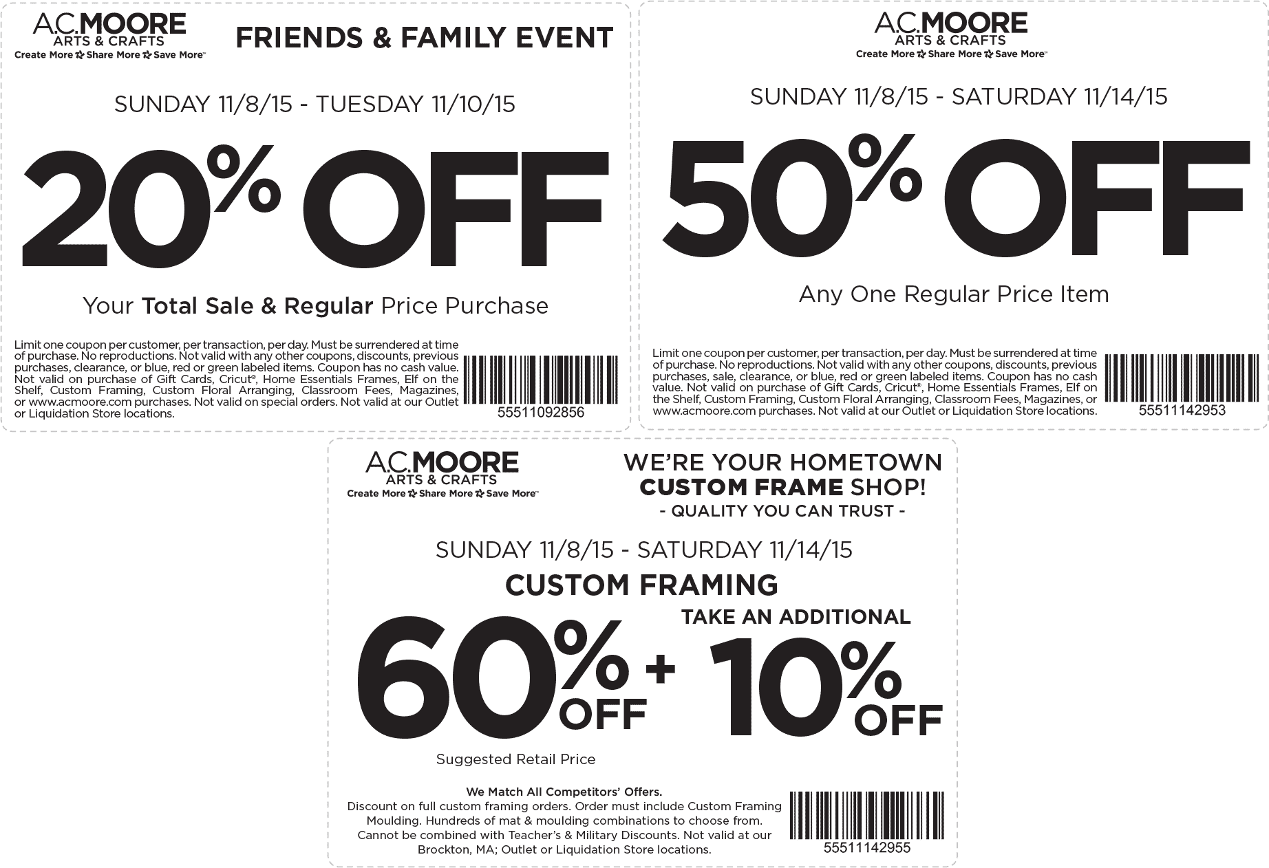 A.C. Moore Coupon October 2016 50% off a single item & more at A.C. Moore