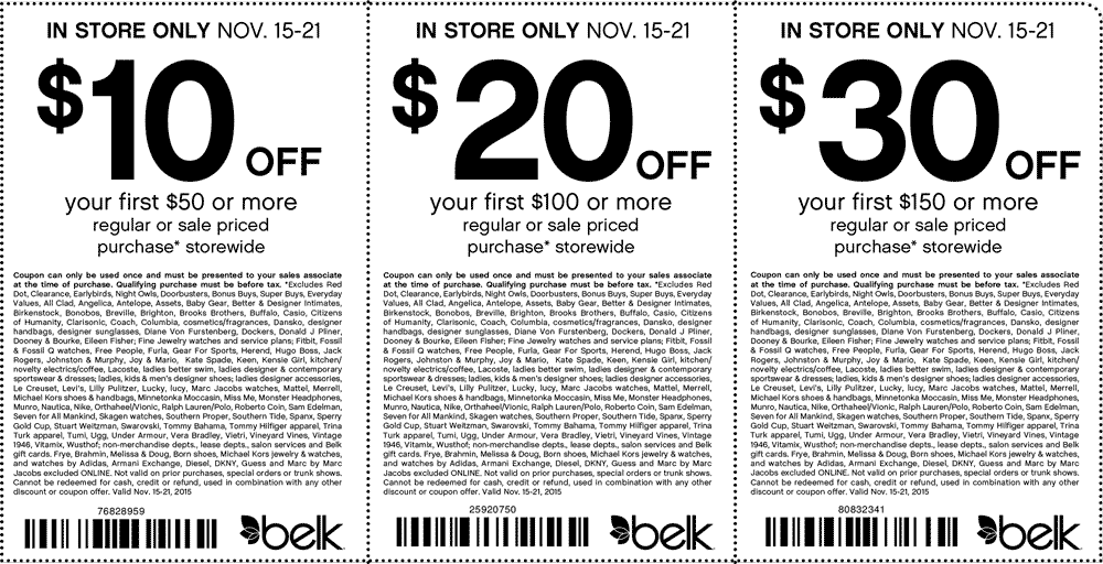 Belk Coupon July 2017 $10 off $50 & more at Belk, or online via promo code 30528230