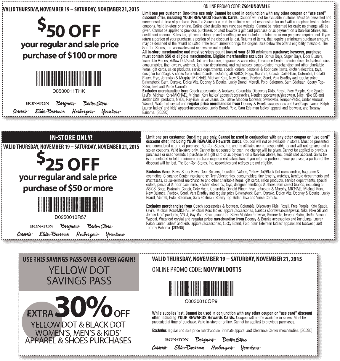 Carsons Coupon July 2017 $50 off $100 & more at Carsons, Bon Ton & sister stores, or online via promo code Z504UNOVM15