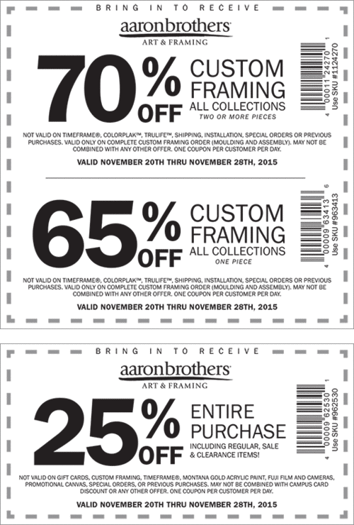 Aaron Brothers Coupon March 2017 25% off everything & more at Aaron Brothers